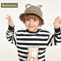巴拉巴拉儿童渔夫帽男女童韩版棉日系幼儿园小学生帽子卡通遮阳帽