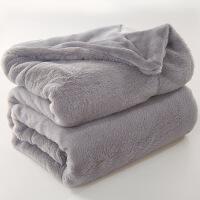 君别双层毛毯加厚珊瑚绒单人双人毯子冬季保暖床单法兰绒午睡沙发盖毯