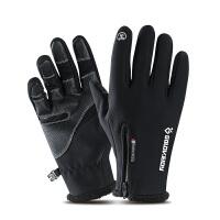 冬季保暖加绒户外手套男士冬天女士骑行摩托车防风防寒触摸屏分指手套