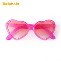 巴拉巴拉儿童眼镜太阳镜女童墨镜潮公主玩具爱心形镜片遮阳防刺眼