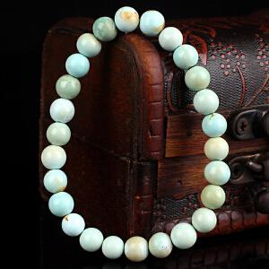 原矿高瓷绿松石圆珠手串 直径 7mm