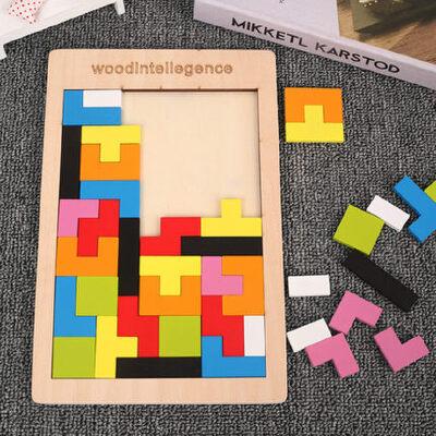 俄罗斯方块积木宝宝七巧板智力拼图儿童益智幼儿早教玩具3-4-6岁7