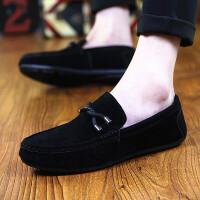 DAZED CONFUSED夏天新款豆豆鞋男磨砂韩版懒人鞋英伦驾车休闲鞋青年时尚潮流男鞋