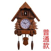 客厅布谷鸟挂钟创意儿童欧式摇摆智能报时钟现代咕咕闹钟佩奇钟表 20英寸