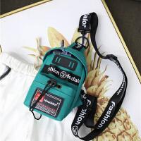韩版斜跨包迷你胸包 男包运动学生包手机袋单肩印字包