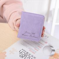 小钱包女短款女士钱包折叠零钱包女韩版学生迷你卡包女式两折钱夹