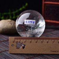 天然水晶球摆件天然白水晶球摆件大原石手工打磨改风水家居10厘米三寸六寸