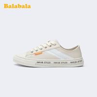 巴拉巴拉官方童鞋女童帆布鞋儿童小白鞋潮流中大童春秋鞋