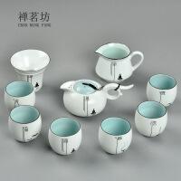 包邮新款 德化手工脂白茶具礼品 陶瓷整套定窑白瓷套装礼盒装10件套