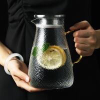 玻璃凉水壶耐热高温防爆家用晾瓶冷白开水杯套装泡柠檬大容量超大