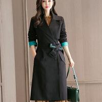 2018082410075522018 新款外套女装2018年秋季新款潮流时尚韩版修身显瘦中长款女式风衣性感潮流