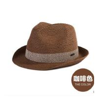 男爵士太阳帽防晒帽凉帽 韩版潮遮阳 帽休闲礼帽英伦绅士帽