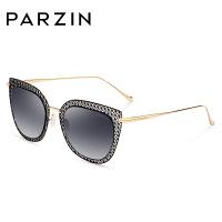 帕森太阳镜 女士镂空猫眼太阳眼镜金属大框炫彩膜潮墨镜8110