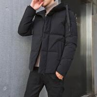 男士羽绒服中长款新款冬装韩版潮保暖帅气加厚连帽冬季外套男装DJ-DS236