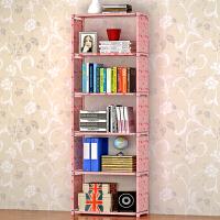 蜗家加宽简易书架 实用书橱 收纳架 收纳柜 自由组装置物架儿童书柜sj06
