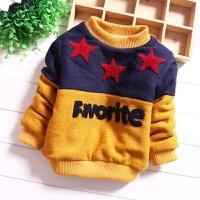 男童毛衣1中小童2加绒加厚儿童3针织打底衫4岁宝宝保暖套头装