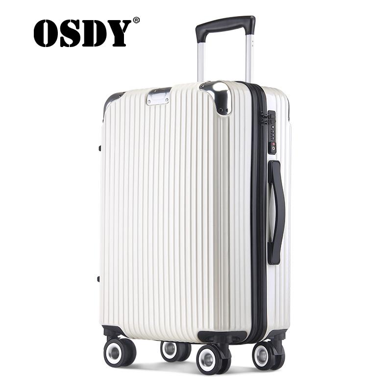 【可礼品卡支付】osdy新款旅行箱男女拉杆箱海关锁密码24寸托运箱全新升级配置单品,耐磨升级大轮设计更贴心