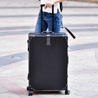 直角铝合金拉杆箱30寸男万向轮26寸行李箱超大容量女旅行学生皮箱 防刮黑 【防刮铝框款】