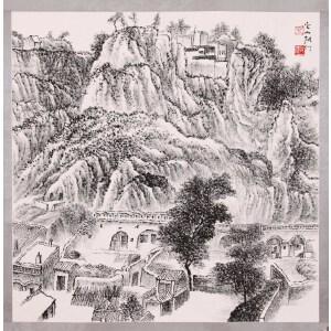 张仃《山水》
