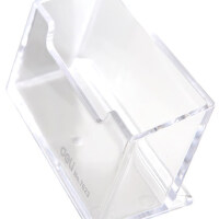 得力名片夹名片盒7623男女式桌面个性创意名片收纳卡片盒名片架收纳盒商务名片座明片银行卡名片盒子办公文具