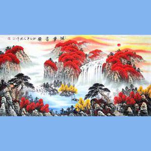 中国青年美术家协会常务理事,中国山水画院专业画家,国家一级美术师高云鹏(鸿运当头)6
