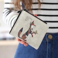 女士钱包女短款日韩版小清新女生钱包折叠多功能零钱包夹