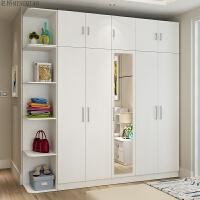 20181026060214652家具大衣柜简约现代经济型木质柜子组合卧室带镜子组装四五门衣橱 +角柜+顶柜
