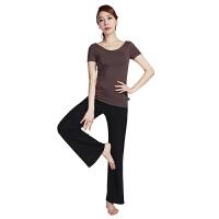 [当当自营]皮尔瑜伽(pieryoga)2018新款瑜伽服套装女 跑步运动健身服修身显瘦两件套 81326咖啡色短袖+