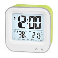 充电温度计夜光家用婴儿房高精度室内电子温湿度计背光带闹钟