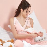 201808264632018新款大码哺乳背心喂奶免穿文胸产后上衣200斤母乳哺乳吊带内衣夏 粉色 9009哺乳款
