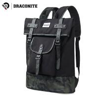 【支持礼品卡支付】DRACONITE潮牌迷彩双肩包男女生帆布韩版学院风学生书包背包11659