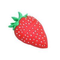 (鑫龙办公)16G正品草莓卡通u盘 可爱礼品优盘足量
