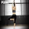 比瘦PLANK 无缝速干运动健身裤 百搭跑步健走七分裤 美体弹力裤女 PK016
