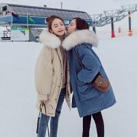 羽绒女宽松中长款2018冬新款棉袄韩版ins面包服chic加厚外套