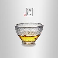 当当优品 锤目纹品茗杯-禅心 光阴系列 点金加厚玻璃茶杯 功夫茶具 60ml