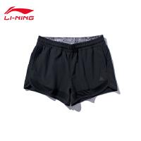 李宁运动短裤女士2019新款户外系列裤子夏季梭织运动裤AEKP008