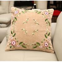 标准印花3d丝带绣抱枕十字绣简约时尚大气抱枕靠垫田园风格