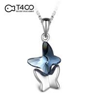 T400 依蝶项链 采用施华洛世奇元素水晶 女款 韩国时尚S925银饰品 11016