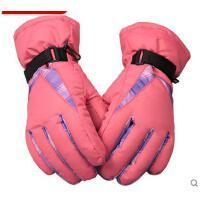 手套 女滑雪手套 防风保暖手套 韩版防风防水耐磨加绒加厚保暖手套