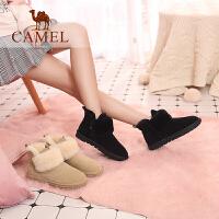 camel骆驼女鞋冬季新款雪地靴 短靴女韩版休闲保暖毛毛鞋女靴子
