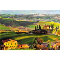1000片木质拼图500智力玩具唯美风景手绘画 田园景色