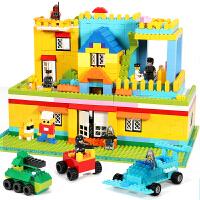 宝宝积木桌玩具6-7-8-10周岁拼装小颗粒3儿童4益智男孩女开发智力