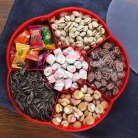 干果盒创意糖果盒家用干果盘组合分格带盖客厅婚庆年瓜子糖果盘