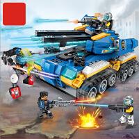 拼装玩具积木男孩子益智力坦克模型拼图6-10岁8儿童生日礼物7