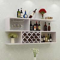 墙上酒柜壁挂式创意简约红酒架客厅实木格子墙壁装饰置物架