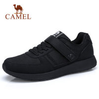 camel骆驼男鞋 春季网面运动鞋轻盈透气魔术贴休闲健步鞋