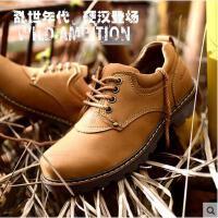 战地吉普男士休闲鞋 真皮工装鞋牛皮大头鞋子 AJ9A0188