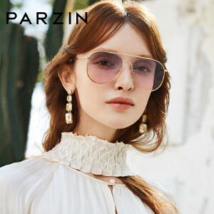 帕森太阳镜2019新款 女士粉色墨镜潮金属蛤蟆镜 大框时尚眼镜8211