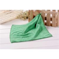 纤维纳米加厚吸水儿童小方巾幼儿园洗脸擦手小毛巾厨房抹布巾 加厚 绿色 10条装 30x30cm