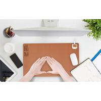 彩阳电暖桌垫加热保暖办公室发热写字台暖手电热台板学生鼠标垫8062骏马棕